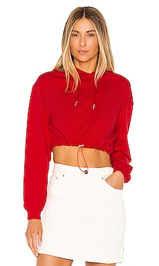 Nya Drawstring Cropped Hoodie superdown $76