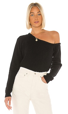 Ravie One Shoulder Sweater superdown $58