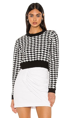 Felicity Houndstooth Sweater superdown $29