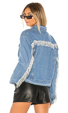 BLOUSON FRANGES ET STRASS RAYA superdown $108