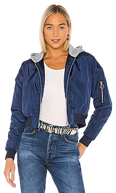 Raquel Cropped Hooded Jacket superdown $81