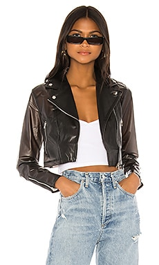Sloane Cropped Moto Jacket superdown $40