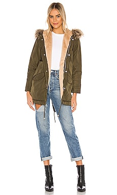 Posh Faux Fur Parka superdown $52