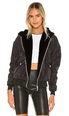 Raelyn Reversible Bomber Jacket superdown $98