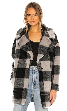 Amaya Faux Fur Coat superdown $120 NEW ARRIVAL