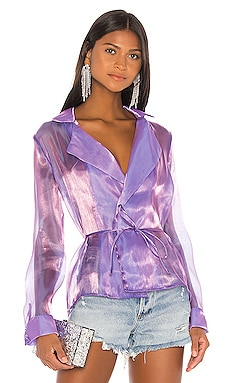 x Draya Michele Remi Organza Tie Jacket superdown $70