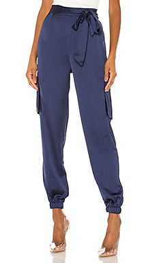 Rachel Satin Cargo Pants superdown $70
