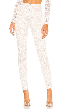Justene Sheer Lace Pant superdown $64