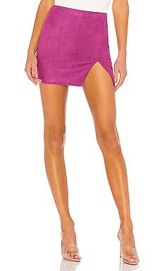 Trinity Faux Suede Skirt superdown $58