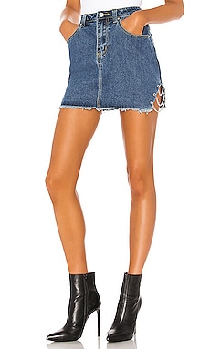 Melissa Slit Mini Skirt superdown $60