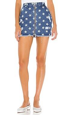 Kayla Zip Front Mini Skirt superdown $26