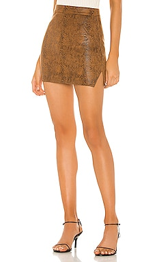 Stella Slit Mini Skirt superdown $58