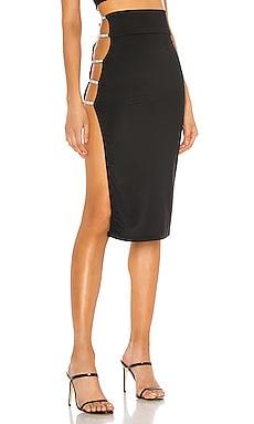 Alora Rhinestone Strap Skirt superdown $35