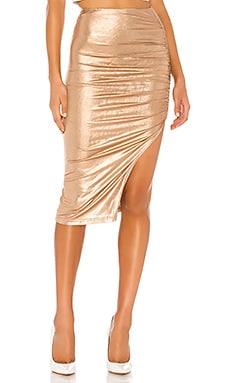 Tiffani Ruched Midi Skirt superdown $56