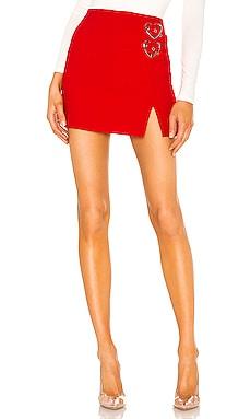 Alicia Heart Buckle Skirt superdown $35
