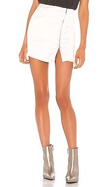 Мини юбка на крючках elina - superdown, Белый, Высокая талия