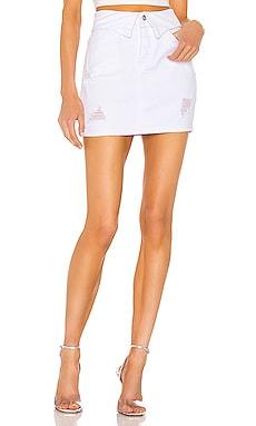 x Draya Michele Solare Denim Mini Skirt superdown $36
