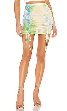 Jillian Ruched Beach Skirt superdown $50
