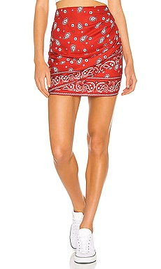 Darby Mini Skirt in Red superdown $52