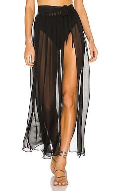 Catalina Sheer Maxi Skirt superdown $66