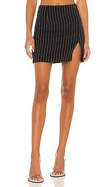 Stefanie Pinstripe Skirt superdown $48