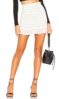Amanda Smocked Skirt superdown $56