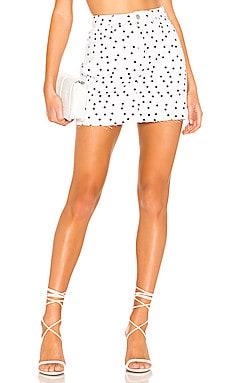 Lila Polka Dot Skirt superdown $56