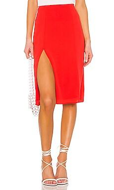 Crystal Slit Midi Skirt superdown $70