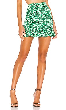 Kelly Ruffle Mini Skirt superdown $52