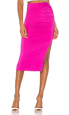 Tiffani Ruched Midi Skirt superdown $56 BEST SELLER