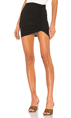 Maya Ruched Mini Skirt superdown $58