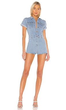 ROMPER DENIM AMBER superdown $33