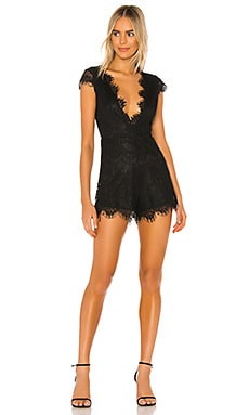 Ozie Deep V Romper superdown $66
