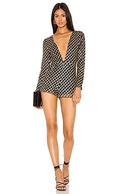 Krissy Deep V Romper superdown $74