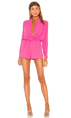 Kaycie Drape Neck Romper superdown $68