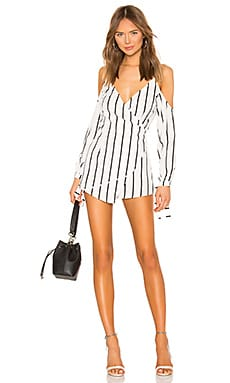 Zoey Tie Sleeve Romper superdown $70