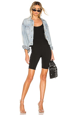 Nadia Biker Short Romper superdown $68 BEST SELLER