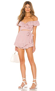 Angela Wrap Tie Romper superdown $70