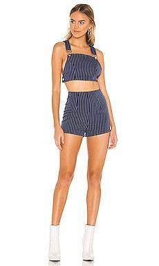 Zara Overall Short Set superdown $66 NEW ARRIVAL