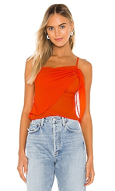Abbey Ruched Cami Top superdown $42 NEW ARRIVAL