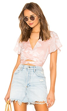 Jarae Tie Front Top superdown $28