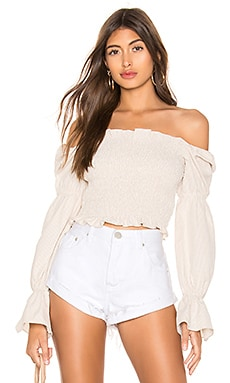 Abigail Smocked Top superdown $56