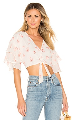 Audrena Ruffle Top superdown $34