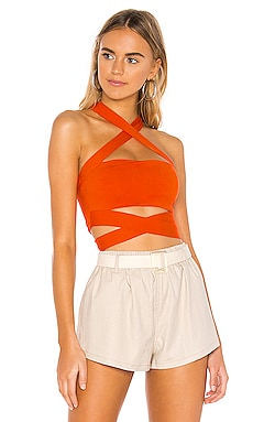 Elva Halter Tie Top superdown $44