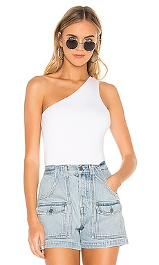 Devonne One Shoulder Bodysuit superdown $58 BEST SELLER