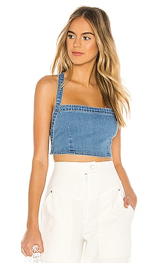 TOP RECORTADO DENIM LEIA superdown $44