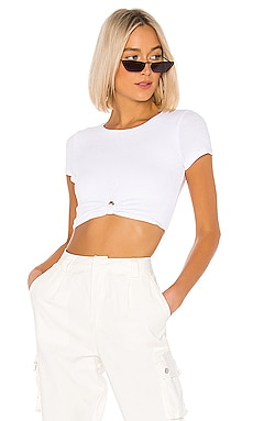 Laia Cropped Tee superdown $44