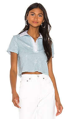 Sun Cropped Polo Shirt superdown $58 NEW ARRIVAL