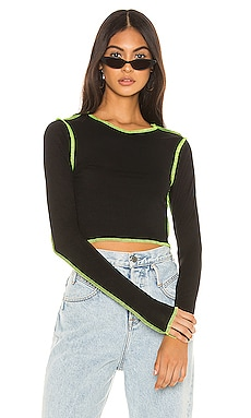 Alisha Contrast Thread Top superdown $44