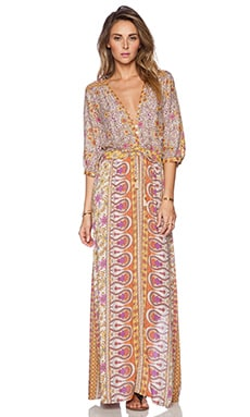Spell & The Gypsy Collective Boho Blossom Maxi Dress in Saffron